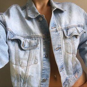 Oversized Vintage GUESS Denim Jean Jacket L